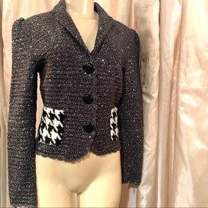 Dolce and Gabbana grey silver tweed blazer